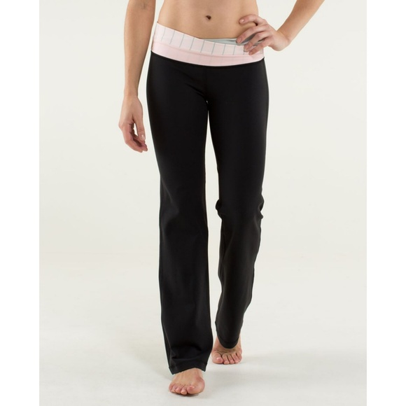 c3d3c4ffb lululemon athletica Pants - Lululemon Astro Pant Black Silver Striped Pink  - 4